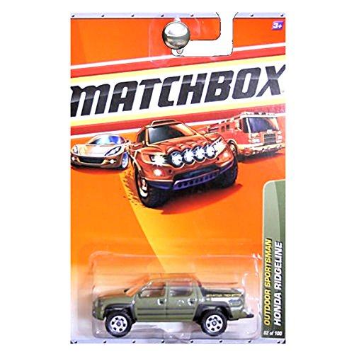Matchbox 2010 Outdoor Sportsman Honda Ridgeline Pickup Truck Green