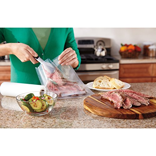 FoodSaver GameSaver 8 x 20' Vacuum Seal Long Roll with BPA-Free Multilayer Construction, 6 Pack