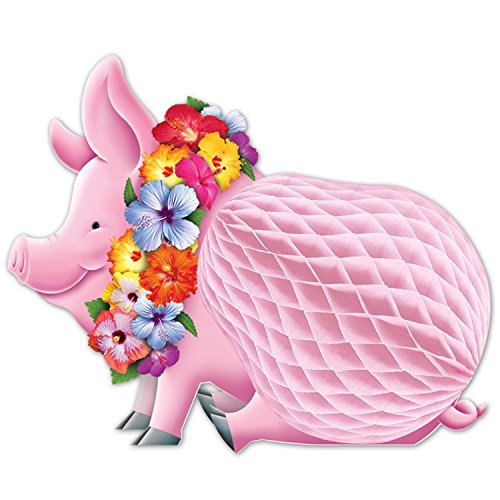 Luau Pig Honeycomb Centerpiece - 2