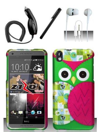 Shoparound168 HTC Desire 816 (Virgin Mobile) Case, Colorful Owl Design Protective Hard Case Cover for HTC Desire 816 (Virgin Mobile 816 Cases)