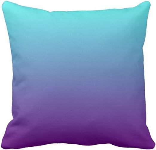 Amazon.com: Emvency VaryHome Throw Pillow Cover Teal Plain Simple