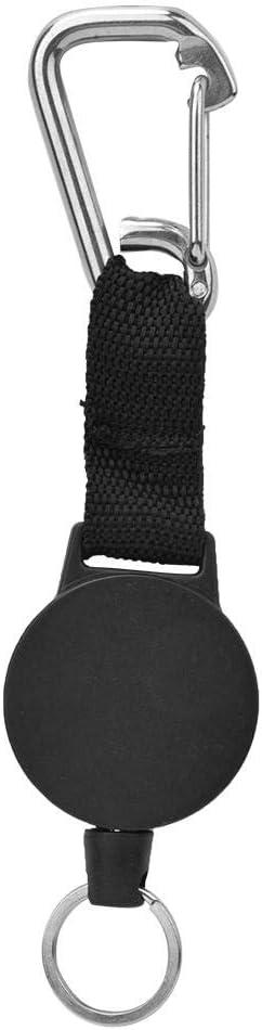 Alomejor Gancho Colgante para Buceo Retr/áctil con Cuerda De 27.4 Pulgadas Y Clip De Acero Inoxidable