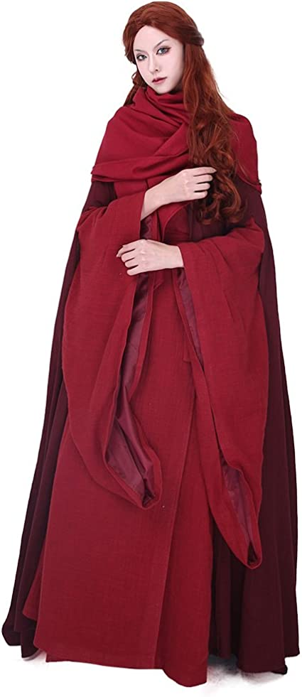 Game of Thrones The Red Woman Lady Melisandre of Asshai Melisandre Costume Dress
