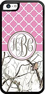 Pink White Tree Country Girl Camo Monogram Case For Iphone 5C