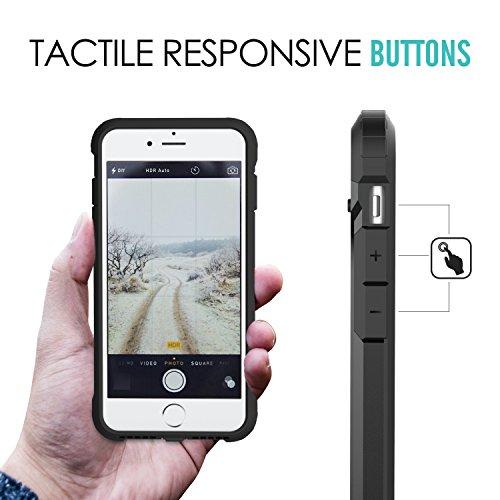 MoKo iPhone 7 Plus Funda - Avanzada Dual Layer Resistente Slim Armor Case Anti-Rasguños Absorción de Choque Protección Parachoques Back Cover para Apple iPhone 7 Plus, Negro Negro