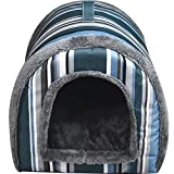 Multifuctional Dog House Nest with Mat Foldable Pet Dog Bed Cat Bed House Dogs Travel Pet Bag Product (463837cm, Grey) For Sale