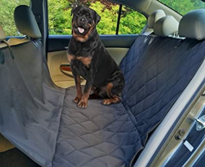 Hammock Tech Premium Backseat Dog Cover- Pet Seat Cover For Large and Small Dogs-Protects Car Back Seats From Scratches Rips Dirt and Dog Hair-Quilted Waterproof Fits Cars Trucks SUV'S