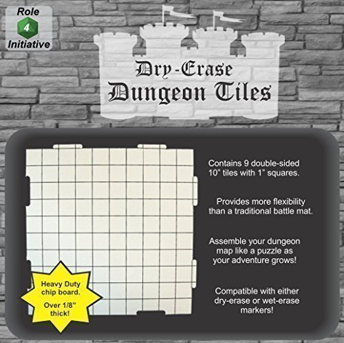 UPC 609728424411, Dry Erase 10 inch Dungeon Tiles - Pack of 9