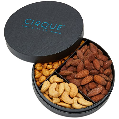 Cirque Gift Co. Gourmet Nut Gift Tray - Freshly Roasted Assorted Nuts for any occasion or Corporate Gifting