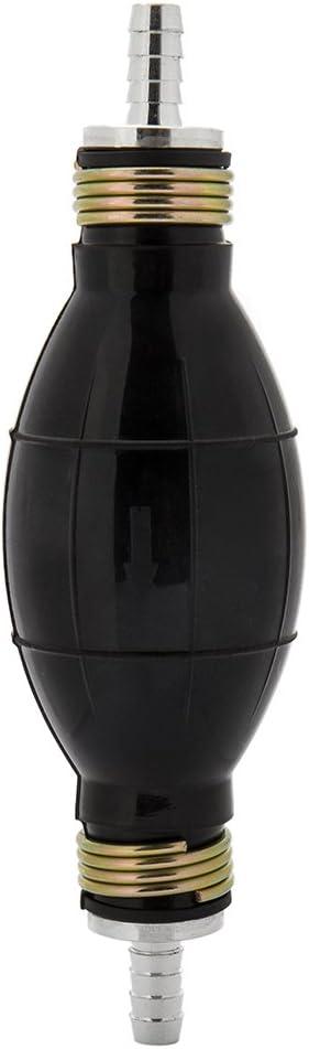 WarmCare 8mm Black Rubber Fuel Transfer Pump Hand Primer Gasoline Petrol Pump Bulb One Way Valve Universal Vacuum Fuel Line for Diesel Marine Boat Accessories