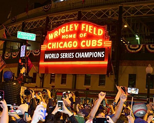 Chicago Cubs - 2016 World Series Champions! Wrigley Field Marquee! 8x10 Photo (Wrigley Field Chicago Cubs)