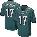 #9: Alshon Jeffery Philadelphia Eagles Nike Youth Super Bowl LII Bound Game Jersey – Midnight Green