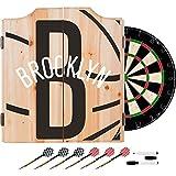 Trademark Gameroom NBA7010-BN2 NBA Dart Cabinet Set with Darts & Board - Fade - Brooklyn Nets
