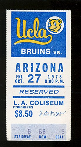 Tickets Cats (1978 UCLA Bruins vs Arizona Wildcats Ticket Stub)