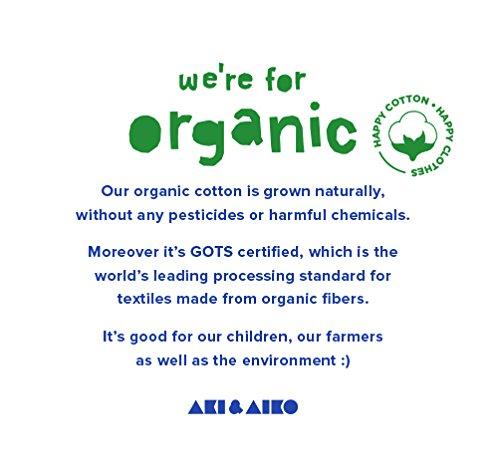 2-7T AKI /& AIKO Organic Cotton Waves Leggings