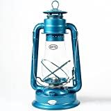 Dietz #80 Blizzard Hurricane Oil Lamp Burning Lantern Blue