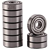 XiKe 10 Pack 625ZZ Precision Bearings 5x16x5mm, Rotate Quiet High Speed and Durable, Double Shield and Pre-Lubricated, Deep Groove Ball Bearings.