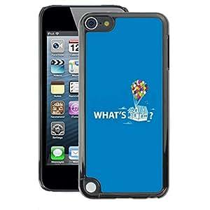 A-type Arte & diseño plástico duro Fundas Cover Cubre Hard Case Cover para Apple iPod Touch 5 (Quote Up Text Cartoon Balloon)