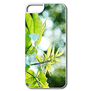 IPhone 5 5S Covers, New Leaves Bokeh White Cover For IPhone 5
