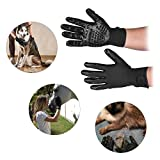 Decdeal 2Pcs Pet Grooming Gloves Gentle De-Shedding Brush for Dogs Horses