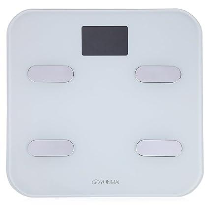YUNMAI M1302 Báscula Escala Digital Inteligente Electrónico Bluetooth Smartphone Medición Peso Grasa Corporal para Salud
