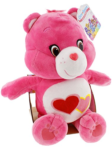 Love-A-Lot Bear Soft Medium Plush Pink with Red and Pink Hearts ()