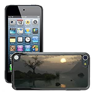 Hot Style Cell Phone PC Hard Case Cover // M00043878 lake artistic 3d // Apple ipod Touch 5 5G 5th