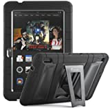 i-Blason Kindle Fire HDX 7 Inch Tablet ArmorBox 2 Layer Convertible [Hybrid] Full-Body Protection KickStand Case with Built-in Screen Protector for Kids Friendly (Black)