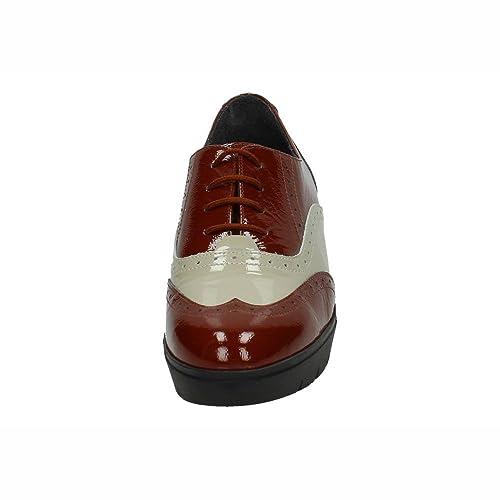NOELIA ZAPATO8 Mocasines con CUÑA Mujer Zapatos CORDÓN MARRÓN 37: Amazon.es: Zapatos y complementos