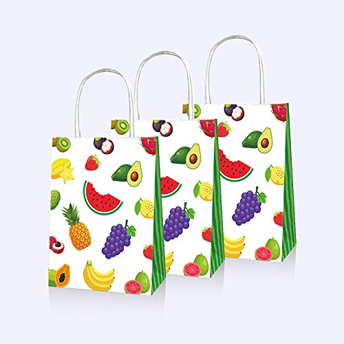 CC HOME Tutti Frutti Party Bags ,Watermelon Birthday party Goody Party Favor Bags,Gift Bags,Paper Treat Bags,Candy Bags For boys ,Girls Kids Adults Watermelon Theme,TWO-tti Fruity Theme,Pineapple,Grape,Strawberry,Summer Tropical Fruity Themed Baby Shower,Birthday Party Supplies Decorations, 10 Packs