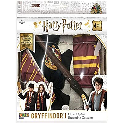 Imagine by Rubie's Child's Deluxe Harry Potter Gryffindor Dress Up Set, Medium: Toys & Games