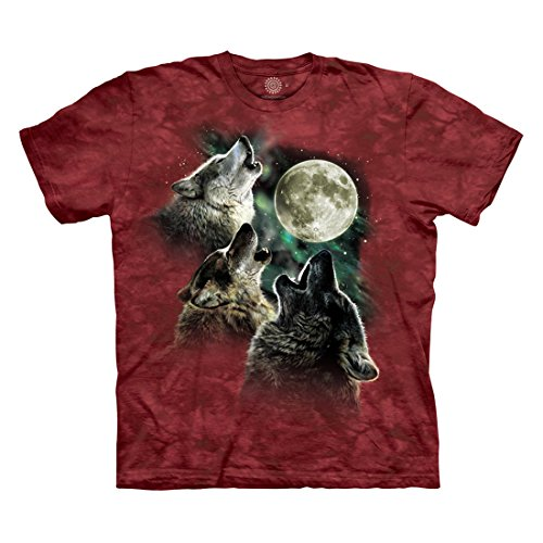 The Mountain Men's Three Wolf Moon T-Shirt, Red, 2XL