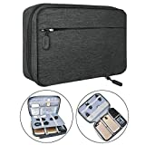Electronic Organizer Travel Packing Bag - Luxsure Double Layer Travel Gadget Carry Bag for Accessories,Ipad/Ipad Pro/Mini, USB Cables, Plugs, Earphone, Power Bank, Flash Hard Drive (Large 11'')