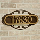 Touch Of Class Metal Paris House Number Address Wall Sign Gold/Bronze Wall