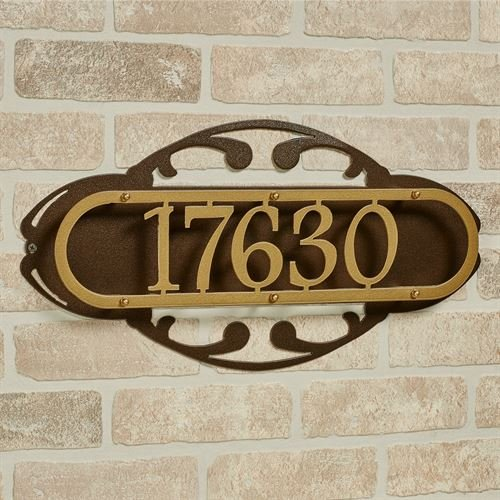Touch Of Class Metal Paris House Number Address Wall Sign Gold/Bronze Wall (House Numbers Paris)
