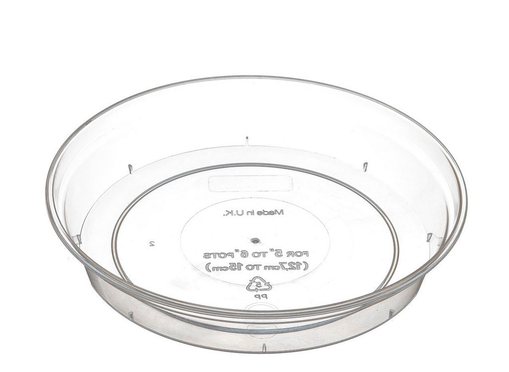 Clear Orchid Pot Saucer 11-18 5cm by Stewart Garden Products 338364-STX
