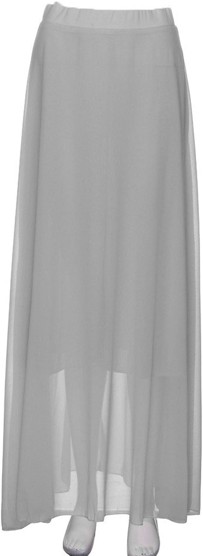 ShiTou, Skirts, Womens Chiffon Stretch Waist Skirt Pleated Pleated Skirt