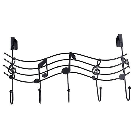 Dragonaur - Perchero de metal, diseño vintage con notas musicales