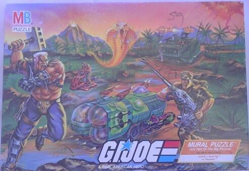 (G.I. Joe Mural Puzzle Scene 3 Road Pig Vs.)