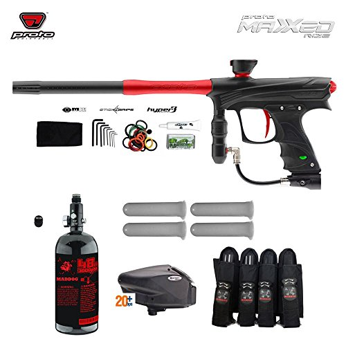 Proto Rize MaXXed Advanced Paintball Gun Package - Black/Red