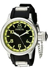 Invicta Men's 1433 Russian Diver Black Dial Rubber Watch
