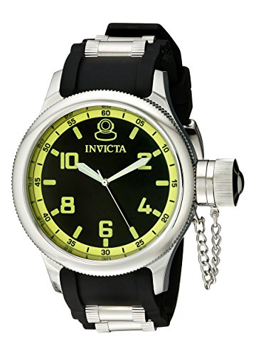 Invicta Men's 1433 Russian Diver Black Dial Rubber Watch (Best Russian Made Watches)