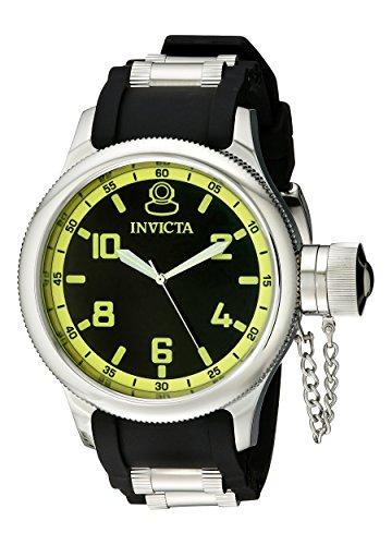 Invicta Men's 1433 Russian Diver Black Dial Rubber - Russian Watch Diver