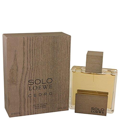 Solo Loewe Cedro by Loewe Eau De Toilette Spray 3.4 oz Men by Loewe