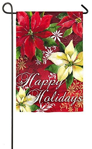 Evergreen Enterprises 14S3532 Watercolor Poinsettia Garden Flag