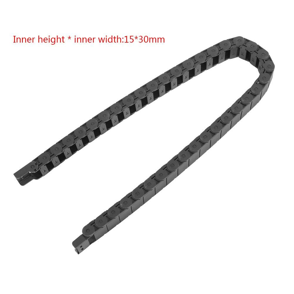 Drag Chain 15mm x 30mm 1 Meter Nylon Wire Cable for Engraving Machine Accessory