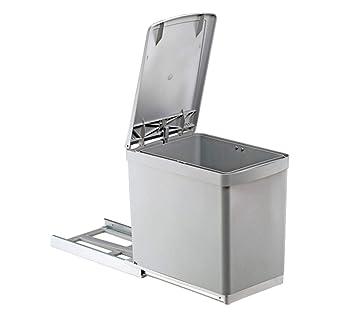 Captivant Quellmalz 01021211 Wesco 30DT Poubelle De Cuisine Encastrable Avec  Couvercle Automatique à Levier Pour Placard De