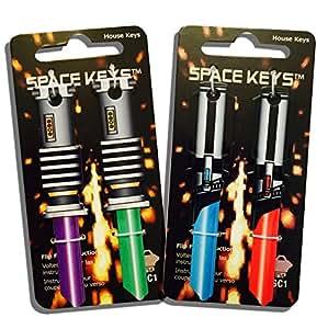 Set of 4 Saber Shaped Space Keys - Schlage SC1