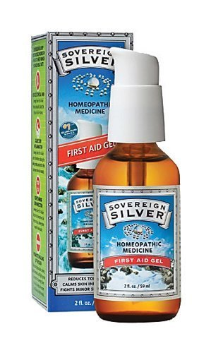 Sovereign Silver First Aid Gel - Homeopathic Medicine, 2oz (59mL) - Be Prepared for Life's Little Mishaps