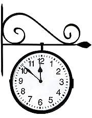 Poolmaster 52608 Dual Sided Hanging Clock - Black